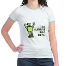 The Humans Are Dead Jr Ringer T-Shirt
