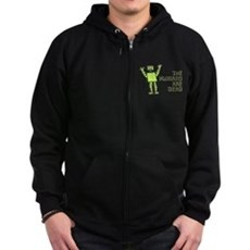 The Humans Are Dead Zip Dark Hoodie
