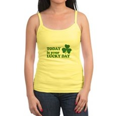 Today Is Your Lucky Day Jr Spaghetti Tank