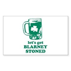 Let's Get Blarney Stoned Rectangle Sticker