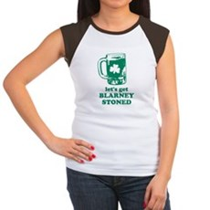 Let's Get Blarney Stoned Womens Cap Sleeve T-Shir