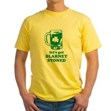 Let's Get Blarney Stoned Yellow T-Shirt