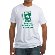 Let's Get Blarney Stoned Fitted T-Shirt