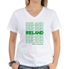 Have a Green Day Womens V-Neck T-Shirt