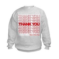 Thank You Bag Kids Sweatshirt
