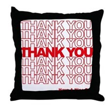 Thank You Bag Throw Pillow
