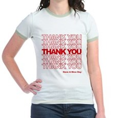 Thank You Bag Jr Ringer T-Shirt