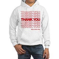 Thank You Bag Hooded Sweatshirt