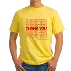 Thank You Bag Yellow T-Shirt