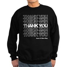 Thank You Bag Dark Sweatshirt
