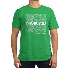 Thank You Bag Mens Fitted Dark T-Shirt