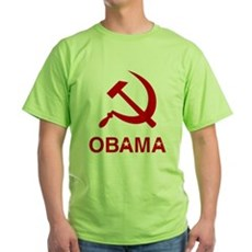 Socialist Obama Green T-Shirt