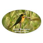 Little Bee-eater Oval Sticker