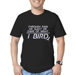 Through Rain... I Bird Men's Fitted T-Shirt (dark)