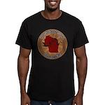 Wisconsin Birder Men's Fitted T-Shirt (dark)