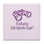 Future Birdwatcher Tile Coaster
