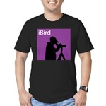 iBird (purple) Men's Fitted T-Shirt (dark)