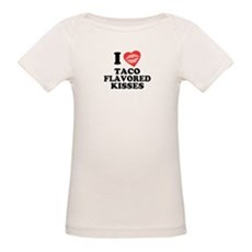 Taco Flavored Kisses Organic Baby T-Shirt