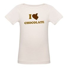 I Love [Heart] Chocolate Organic Baby T-Shirt