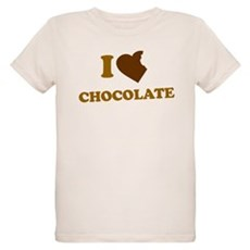 I Love [Heart] Chocolate Organic Kids T-Shirt