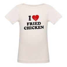 I Love [Heart] Fried Chicken Organic Baby T-Shirt