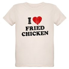 I Love [Heart] Fried Chicken Organic Kids T-Shirt