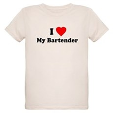 I Love [Heart] My Bartender Organic Kids T-Shirt