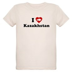 I Love [Heart] Kazakhstan Organic Kids T-Shirt