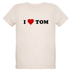 I Love [Heart] Tom Organic Kids T-Shirt