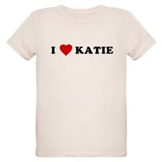 I Love [Heart] Katie Organic Kids T-Shirt