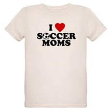I Love Soccer Moms Organic Kids T-Shirt