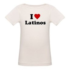 I Love [Heart] Latinos Organic Baby T-Shirt
