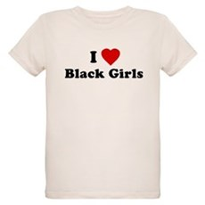 I Love [Heart] Black Girls Organic Kids T-Shirt