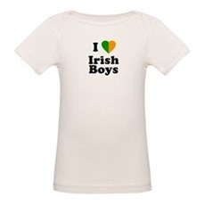 I Love Irish Boys Organic Baby T-Shirt