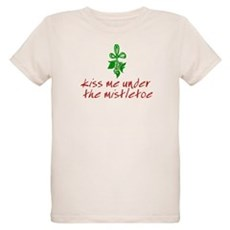 Kiss me under the mistletoe Organic Kids T-Shirt
