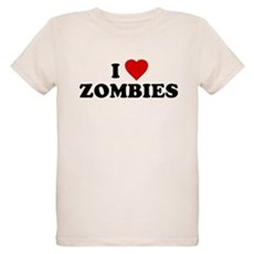 I Love [Heart] Zombies Organic Kids T-Shirt