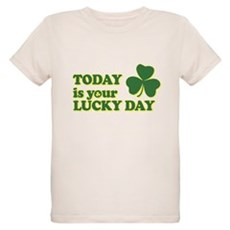 Today Is Your Lucky Day Organic Kids T-Shirt