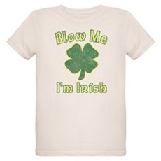 Blow Me I'm Irish Organic Kids T-Shirt