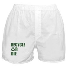 Recycle or Die Boxer Shorts