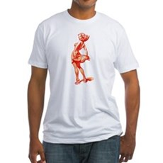 Vintage Pin Up Girl Fitted T-Shirt