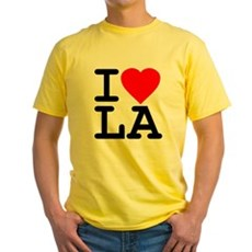 I Love LA Yellow T-Shirt