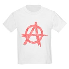 Vintage Anarachy Symbol Kids Light T-Shirt