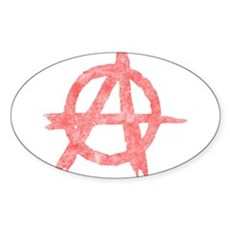Vintage Anarachy Symbol Oval Sticker