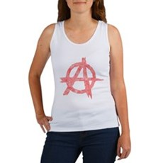 Vintage Anarachy Symbol Womens Tank Top