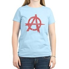 Vintage Anarachy Symbol Womens Light T-Shirt