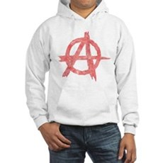 Vintage Anarachy Symbol Hooded Sweatshirt