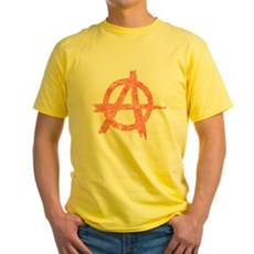 Vintage Anarachy Symbol Yellow T-Shirt