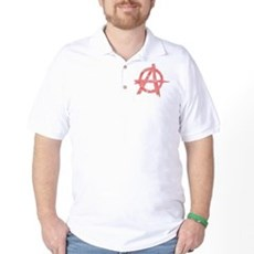 Vintage Anarachy Symbol Golf Shirt