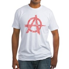 Vintage Anarachy Symbol Fitted T-Shirt