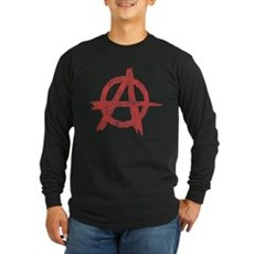 Vintage Anarachy Symbol Long Sleeve T-Shirt